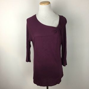 Gap Longsleeve Ruched Neckline Shirt Blouse Top